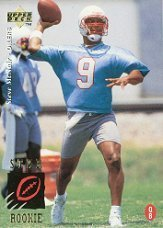 1995 Upper Deck Steve McNair Rookie Football Card #3 - Shipped In Protective Display Case!