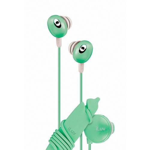 Iluv Iep311Grn In-Ear Stereo Earphones With Volume Control - Green