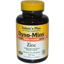 Nature'S Plus - Dyno-Mins Zinc 50Mg Tablets 90
