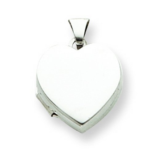 Sterling Silver Plain 15mm Heart Locket. Metal Weight- 0.88g.