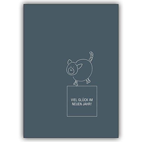 1 Silvesterkarte: Verschicken Sie mit einem Glücksschwein Ihre besten Wünsche zu Silvester