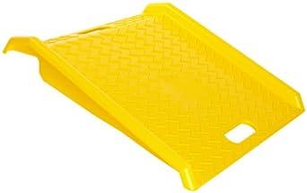 "Eagle 1794 High Density Polyethylene Curb Ramp, Yellow, 1000 lbs Load Capacity, 27"" Length, 27"" Width, 4"" Height"