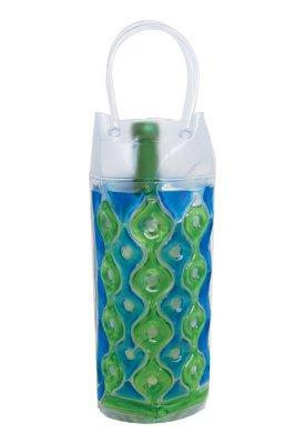 Wave 1C Blue-Green - Freezable Chill It Bottle Bag - 1