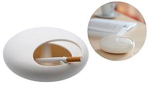 Balvi - Cenicero Peeble de melamina, color blanco   Más información y revisión del cliente