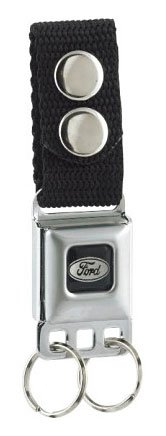 Ford Emblem Seat Belt Buckle Style Keychain