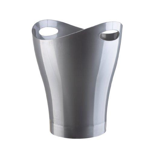 Umbra Garbino Polypropylene Waste Can, Silver