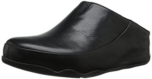 Fitflop Gogh Moc (Leather)- Zoccoli donna, colore nero (All Black), taglia 41 EU (7 UK )