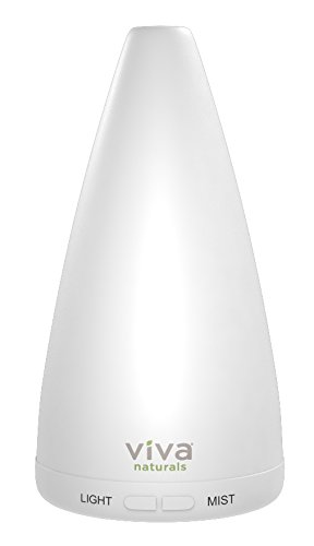 Viva Naturals Aromatherapy Essential Oil Diffuser - Vibrant Changeable LED Lights & Soothing Mist, Automatic Shut Off