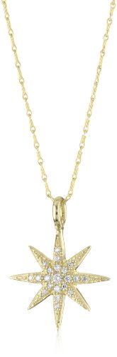 Mizuki 14k Gold and Diamond Starburst Barley Chain Necklace