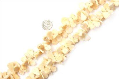 10x14--12x16mm drip cream white coral beads strand 15
