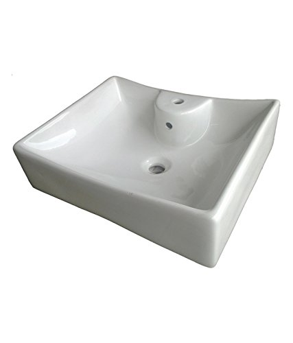 Belmonte Table Top Wash Basin Sheep 20 Inch x 17 Inch - White