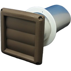 "Deflecto Svhab3 3"" Louver Bath Vent - Brown front-453056"