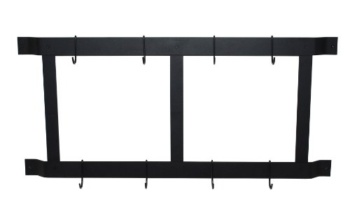 Rogar Ultimate Wall Mounted Pot Rack Vertical/Horizontal in Black