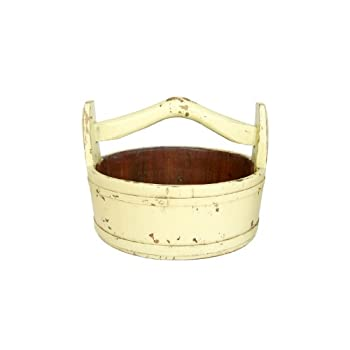 Antique Revival Wooden Round Vintage Bucket, Butter