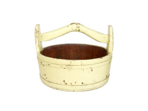 Antique Revival Wooden Round Vintage Bucket, Butter 0