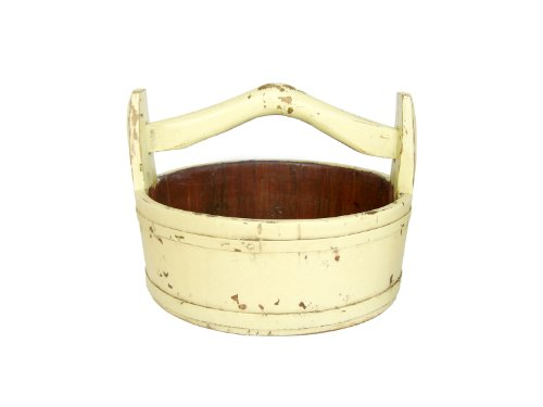 Antique Revival Wooden Round Vintage Bucket, Butter (Antique Pitcher And Basin compare prices)
