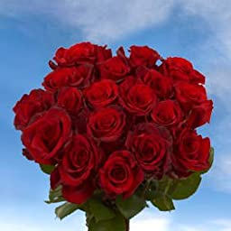 8 Dozens of Fresh Cut Red Roses | Fresh Flowers Express Delivery | Perfect for Birthdays, Anniversary or any occasion.