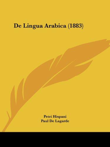 de Lingua Arabica (1883)