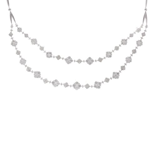 14k White Gold 7.8 Carat Diamond Doubld Strand