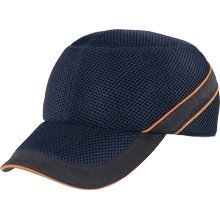 Panoply Air Coltan Safety Bump Cap Baseball Hat - Navy with Black Trim and Orange Piping by Panoply