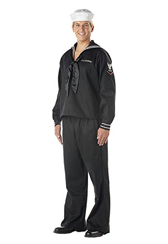 California Costumes Men's Navy,Black,Large Costume (Ahoy Matey Mens Adult Costume)