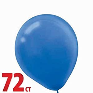 "Royal Blue 12"" Latex Balloons 72ct from Amscan"