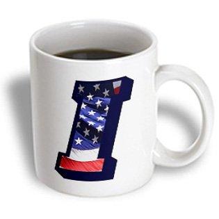 Sandy Mertens Monograms - American Flag I - 11Oz Mug (Mug_172690_1)