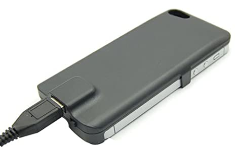 iPhone 5 アイフォン バッテリー 内蔵 ケース 2800mAh 黒