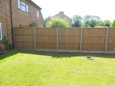 Closeboard panels, concrete post and gravel board ---SUPPLIED AND FITTED---