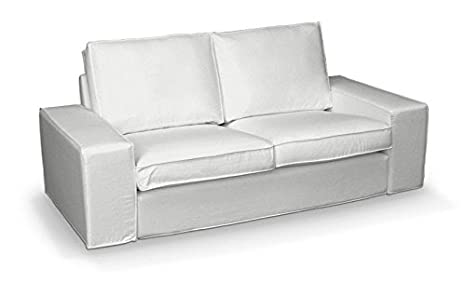 FRANC-TEXTIL 701-702-00 Kivik 2-Plazas Sofá funda, sofá Kivik 2-plazas, Cotton Panama, alt blanco