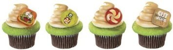 Cut the Rope Om Nom Cupcake Rings - 24 pc - 1