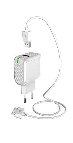 Meliconi Caricabatterie da Viaggio 1A per iPhone 30 PIN, Bianco