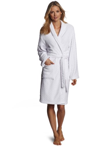 Seven Apparel Hotel Spa Collection Herringbone Textured Plush Robe 1c95c7bcc