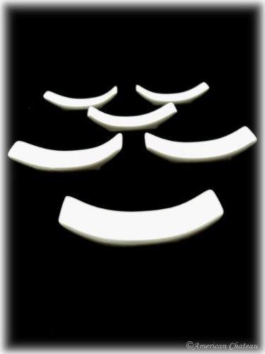 Happy Sales Set of 6 White Porcelain Knife Rests / Chopstick Rest