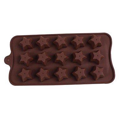LWW Stars Silicone Mold Chocolate Ice Sugar Craft Cake Mould Tools