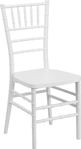 Flash Furniture Hercules PREMIUM Series Resin Stacking Chiavari Chair, White