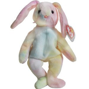 Amazon.com: Hippie the Pastel Ty-dyed Bunny Rabbit - Ty Beanie Babies