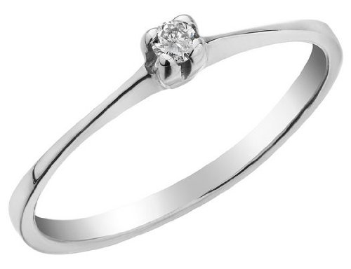 Diamond Promise Ring in 10K White Gold