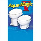 Toilet, Permanent, Aqua-Magic V, Hand Flush, High White