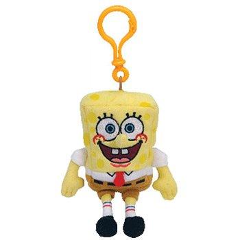 TY Beanie Baby - SPONGEBOB SQUAREPANTS ( Plastic Key Clip )