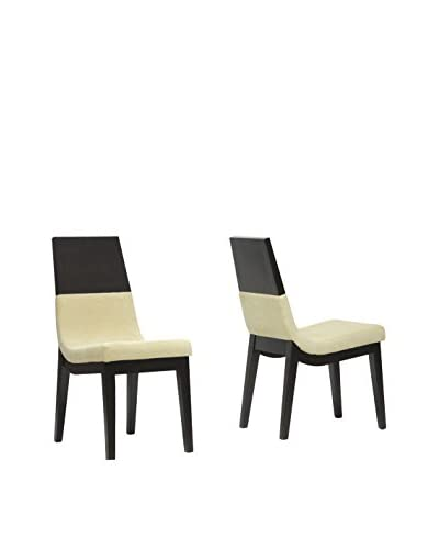 Baxton Studio Set of 2 Prezna Dining Chairs, Beige