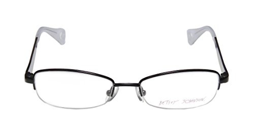Betsey Johnson Boho Boa Mens/Womens Rx Ready Newest Season Designer Half-rim Eyeglasses/Eyeglass Frame (50-17-137, Black / Multicolor) (Air Lebron Slide compare prices)