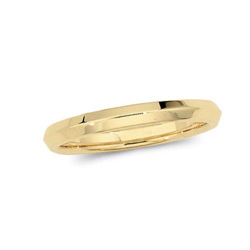 Womens 14K Yellow Gold, Knife Edge Wedding Band 2.5MM (sz 8)
