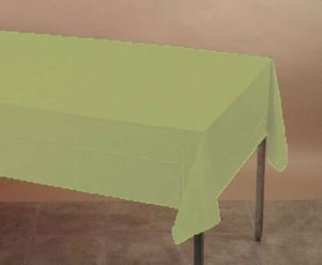 Green Tea Plastic Tablecover 54in X 108in
