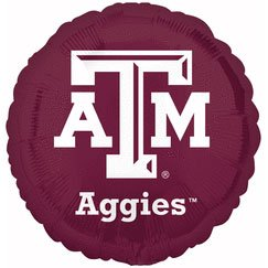 "Anagram International Texas A & M Foil Flat Balloon, 18"", Multicolor"