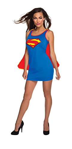 Super Girl Tank Dress with Cape for Women