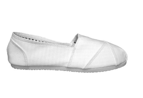 Espadrilles, toe stitched canvas flats/pumps/beach shoes - white