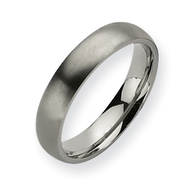Titanium 5mm Brushed Band, Size 6.5