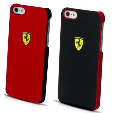 Great Price Ferrari iPhone 5 Scuderia Hard Rubber Case (Red)