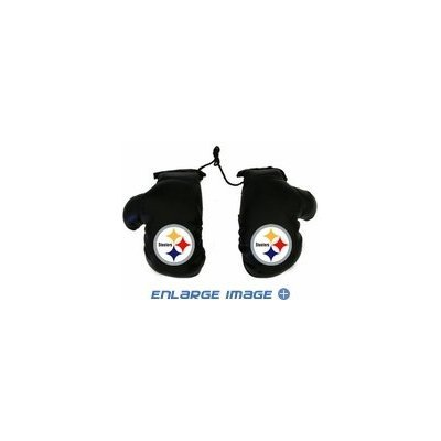 FMD97313 - Rearview Mirror Mini Boxing Gloves - NFL Football - Pittsburgh Steelers